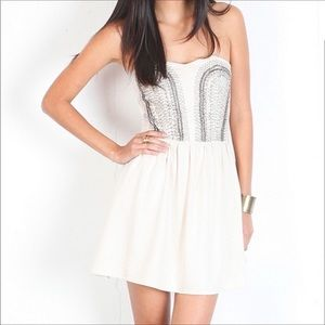 New Keepsake The Label White Beaded Dress Small
